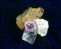 NON-METALLIC LUSTERS<br /> Fluorite -glassy; Talc -greasy; Limonite -Earthy