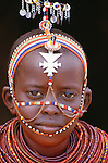 Portrait of a Samburu girl, Kenya