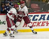 Jake Horton (Harvard - 19), Andrew Gans (Yale - 11), Wiley Sherman (Harvard - 25) - The Harvard University Crimson tied the visiting Yale University Bulldogs 1-1 on Saturday, January 21, 2017, at the Bright-Landry Hockey Center in Boston, Massachusetts.