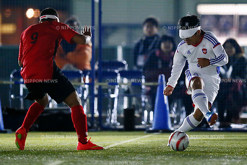 Akihito Tanaka (JPN), NOVEMBER 18, 2014 - Football 5-a-sider : IBSA Blind Football World Championships 2014 Group A match between Japan 0-0 Morocco at National Yoyogi Stadium Futsal Court, Tokyo, Japan. [1180]