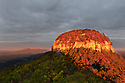 NC00400-00...NORTH CAROLINA - Sunset on Pilot Mountain, Pilot Mpountain State Park.