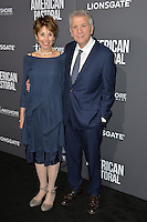 BEVERLY HILLS, CA. October 13, 2016: John Romano &amp; Nancy Forbes at the Los Angeles premiere of &quot;American Pastoral&quot; at The Academy's Samuel Goldwyn Theatre.<br /> Picture: Paul Smith/Featureflash/SilverHub 0208 004 5359/ 07711 972644 Editors@silverhubmedia.com