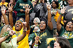 03 APR 2012:  Baylor University fans cheer on their team against the University of Notre Dame during the Division I Women's Basketball Championship held at the Pepsi Center in Denver, CO. Baylor defeated Notre Dame 80-61 to win the national title. Jamie Schwaberow/NCAA Photos