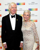 United States Senator Thad Cochran (Republican of Mississippi) and his wife, Kay Webber, arrive for the formal Artist's Dinner honoring the recipients of the 39th Annual Kennedy Center Honors hosted by United States Secretary of State John F. Kerry at the U.S. Department of State in Washington, D.C. on Saturday, December 3, 2016. The 2016 honorees are: Argentine pianist Martha Argerich; rock band the Eagles; screen and stage actor Al Pacino; gospel and blues singer Mavis Staples; and musician James Taylor.<br /> Credit: Ron Sachs / Pool via CNP