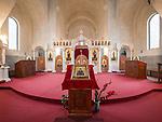 Altar and interior of the church of St. Simeon the Myrrh-Gushing, Novi Beograd, Serbia