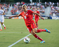 Cary, NC - August 20, 2014: The USWNT defeated Switzerland 4-1 during an international friendly at WakeMed Soccer Park.