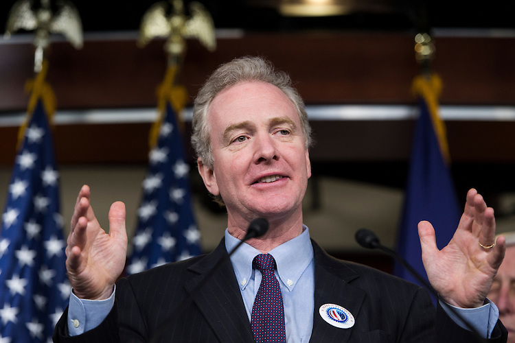 UNITED STATES - APRIL 9: Rep. Chris Van Hollen, D-Md., speaks during the House Democrats' news conference on the Republican budget on Wednesday, April 9, 2014. (Photo By Bill Clark/CQ Roll Call)