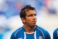 El Salvador forward Rafael Burgos (9) during a CONCACAF Gold Cup group B match at Red Bull Arena in Harrison, NJ, on July 8, 2013.