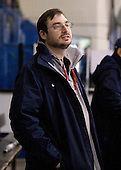 Brock Bradley (USA - Manager) - Team USA practiced at the Agriplace rink on Monday, December 28, 2009, in Saskatoon, Saskatchewan, during the 2010 World Juniors tournament.
