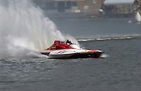 "2003 Madison Regatta, 5-6 July 2003, Madison, IN USA                                .""Executif"" GP-11, Jeff Buckley, 1987 Staudacher Grand Prix hydroplane..F. Peirce Williams .photography.P.O.Box 455  Eaton, OH 45320 USA.p: 317.358.7326  fpwp@mac.com"
