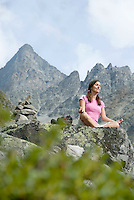 Tiroler Oberland, Austria, August 2009.  Yoga wellness takes the mountain experience to new heights. Photo by Frits Meyst/Adventure4ever.com