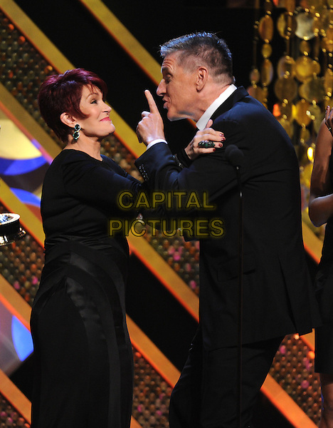 BURBANK, CA - APRIL 26: Craig Ferguson and Sharon Osbourne on the 42nd Annual Daytime Emmy Awards at the Warner Bros. Studio Lot on April 26, 2015 in Burbank, California. <br /> CAP/MPI/PGFM<br /> &copy;PGFM/MPI/Capital Pictures