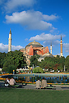 St. Sofia and surrounding gardens in Istanbul, Turkey
