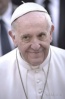 Pope Francis during of a weekly general audience at St Peter's square in Vatican. March 22, 2017