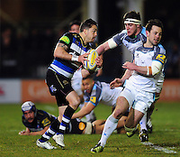Horacio Agulla of Bath Rugby in possession. Aviva Premiership match, between Bath Rugby and Newcastle Falcons on March 18, 2016 at the Recreation Ground in Bath, England. Photo by: Patrick Khachfe / Onside Images