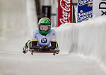 8 January 2016: Jaclyn Narracott, competing for Australia, completes her second run of the BMW IBSF World Cup Skeleton race with a combined 2-run time of 1:51.38, earning a 7th place finish for the day at the Olympic Sports Track in Lake Placid, New York, USA. Mandatory Credit: Ed Wolfstein Photo *** RAW (NEF) Image File Available ***