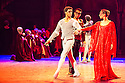 London, UK. 10.06.2014. Tamara Rojo and Carlos Acosta, from English National Ballet, in dress rehearsal for ROMEO AND JULIET, in the round, in the Royal Albert Hall. Picture shows: Carlos Acosta (Romeo) and Begona Cao (Rosaline). Photograph © jane Hobson.