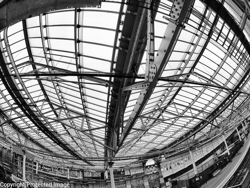 Waverley Station Edinburgh Scotland Waverley Station Edinburgh Scotland Roof no 2 John Van Horn