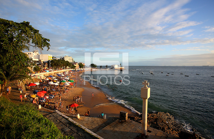 A general view of Porto da Barra beach in Salvador, Brazil, one of the 12 host cities of the 2014 FIFA World Cup