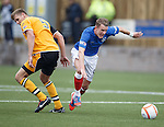 Dean Shiels gets away from Peter Watson