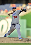 19 September 2012: Los Angeles Dodgers pitcher Shawn Tolleson on the mound against the Washington Nationals at Nationals Park in Washington, DC. The Nationals defeated the Dodgers 3-1 in the first game of their double-header. Mandatory Credit: Ed Wolfstein Photo