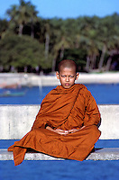 """""""Floating"""" Buddhist Novice Monk, Phuket Thailand. Images from the Book Journey Through Colour and Time"""