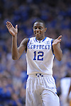 UK's Brandon Knight celebrates during the first half of the University of Kentucky Men's basketball game against Tennessee at Rupp Arena in Lexington, Ky., on 2/8/11. Uk led at half 35-28. Photo by Mike Weaver | Staff