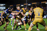 Mark Sorenson of Bristol Rugby passes the ball. Aviva Premiership match, between Bath Rugby and Bristol Rugby on November 18, 2016 at the Recreation Ground in Bath, England. Photo by: Patrick Khachfe / Onside Images