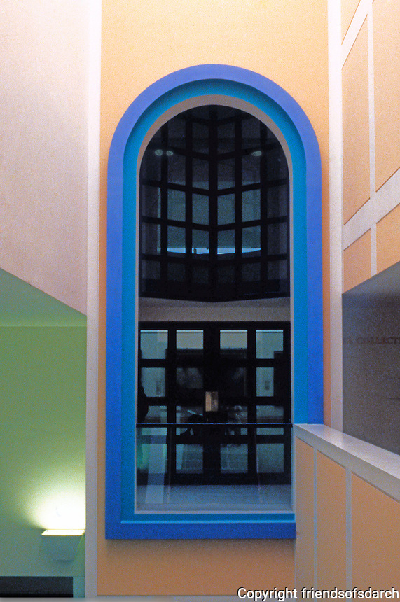 James Stirling: Clore Gallery--detail. Tate Gallery, London.