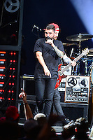 WEST PALM BEACH, FL - AUGUST 05: Singer Jeremy McKinnon and Musician Kevin Skaff of A Day To Remember perform at Perfect Vodka Amphitheatre on August 5, 2016 in West Palm Beach, Florida. Credit: MPI10 / MediaPunch