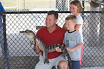 Family With American Alligator