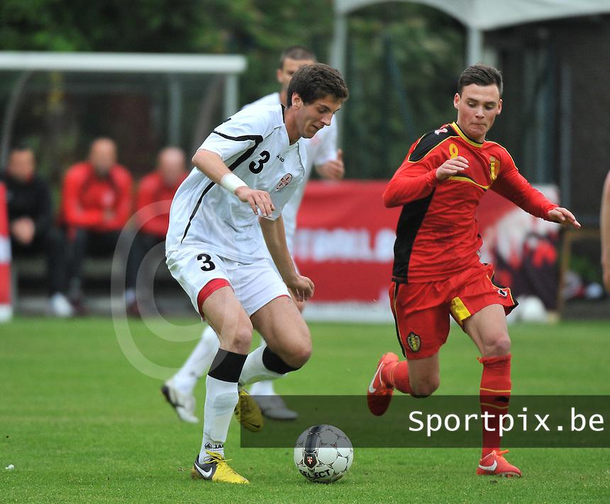 Georgia U19 - Belgium U19 : Lasha Dvali (3) and Birger Verstraete (8)<br /> foto DAVID CATRY / Nikonpro.be