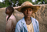 Two Children, The Sahel, Bamako, Mali,Africa, 1985<br />
