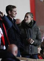 Pierre Casiraghi and Beatrice Borromeo attend A football match - Monaco
