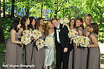 Brides maids with wedding couple  celebrating in Central Park prior to the wedding..