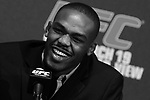 March 16, 2011; New York, NY; USA; Jon Jones at the final press conference for UFC 128.  The card will take place on Saturday March 19, 2011, at the Prudential Center in Newark, NJ.