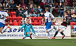 St Johnstone v Hearts...03.08.14  Steven Anderson Testimonial<br /> Gary Oliver scores his second goal<br /> Picture by Graeme Hart.<br /> Copyright Perthshire Picture Agency<br /> Tel: 01738 623350  Mobile: 07990 594431