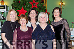 Killarney friends Maeve O'Connell, Kay Donnelly, Yvonne O'Brien, eileen Holmes and Anne Lynch enjoying their Christmas reunion at the Dromhall Hotel on Saturday night