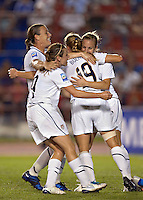 Action photo of Rachel Buehler of United States celebrates goal. The US Women's National Team defeated Haiti 5-0 during the CONCACAF Women's World Cup Qualifying tournament at Estadio Quintana Roo in Cancun, Mexico on October 28th, 2010. The US Women's National Team defeated Haiti 5-0 during the CONCACAF Women's World Cup Qualifying tournament at Estadio Quintana Roo in Cancun, Mexico on October 28th, 2010.