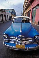 1950's Blue Plymouth Cienfuegos Cuba, Republic of Cuba,