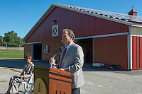 20120829 Solar Panels are unveiled at the UVM Equine Center