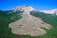 Sourdough rock glacier in the Wrangell St. Elias National Park, Alaska