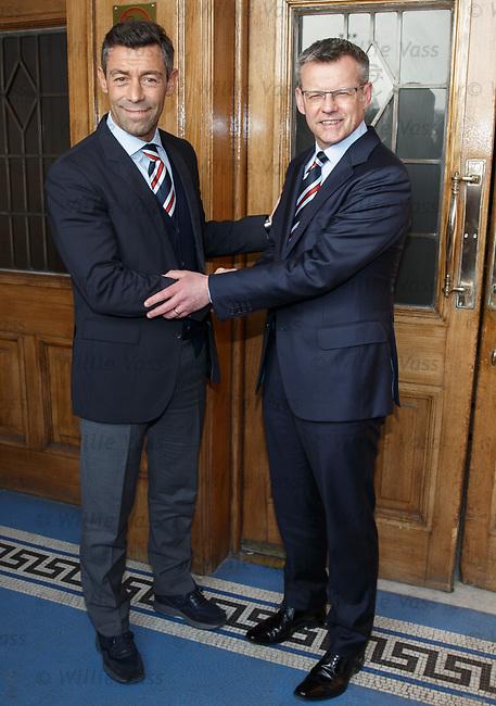 Stewart Robertson and Pedro Caixinha