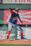 5 September 2016: Lowell Spinners pitcher Darwinzon Hernandez on the mound against the Vermont Lake Monsters at Centennial Field in Burlington, Vermont. The Monsters defeated the Spinners 9-5 to close out their 2016 NY Penn League season. Mandatory Credit: Ed Wolfstein Photo *** RAW (NEF) Image File Available ***
