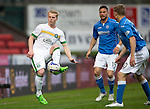 St Johnstone v Celtic...15.05.15   SPFL<br /> Gary Mackay-Steven is closed down by David Wotherspoon and Gary Miller<br /> Picture by Graeme Hart.<br /> Copyright Perthshire Picture Agency<br /> Tel: 01738 623350  Mobile: 07990 594431