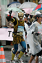 Feb. 28, 2010 - Tokyo, Japan - A marathon runner in costume competing in the Tokyo marathon 2010 on February 28, 2010. Despite the cold and rain, more than 30,000 athletes participated in the fourth running of the event. (Photo Laurent Benchana/Nippon News)