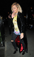 Rita Ora at the JF London private dinner, Beach Blanket Babylon, Ledbury Road, London, England, UK, on Thursday 29 September 2016.<br /> CAP/CAN<br /> &copy;CAN/Capital Pictures /MediaPunch ***NORTH AND SOUTH AMERICAS ONLY***