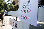 A cyclist departs Tom Bartons Farm, coop in Mountain View during the 2nd Annual Silicon Valley Tour de Coop.