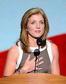 Caroline Kennedy makes remarks at the 2012 Democratic National Convention in Charlotte, North Carolina on Thursday, September 6, 2012.  .Credit: Ron Sachs / CNP.(RESTRICTION: NO New York or New Jersey Newspapers or newspapers within a 75 mile radius of New York City)