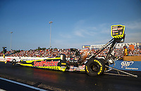 Jun 3, 2016; Epping , NH, USA; NHRA top fuel driver J.R. Todd during qualifying for the New England Nationals at New England Dragway. Mandatory Credit: Mark J. Rebilas-USA TODAY Sports